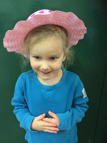 A beautiful pink hat