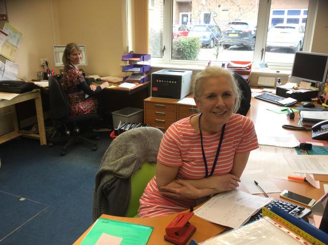We met the ladies who work in the school office