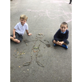 We were using natural materials to create a skeleton!