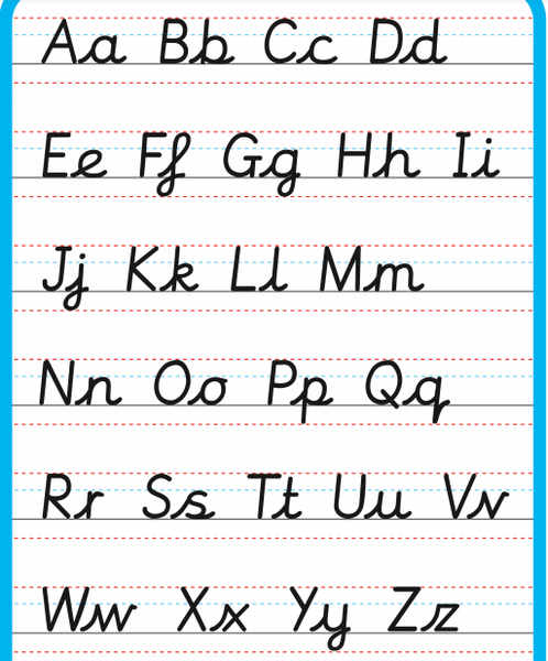 This is the handwriting that we teach at Water Leys.