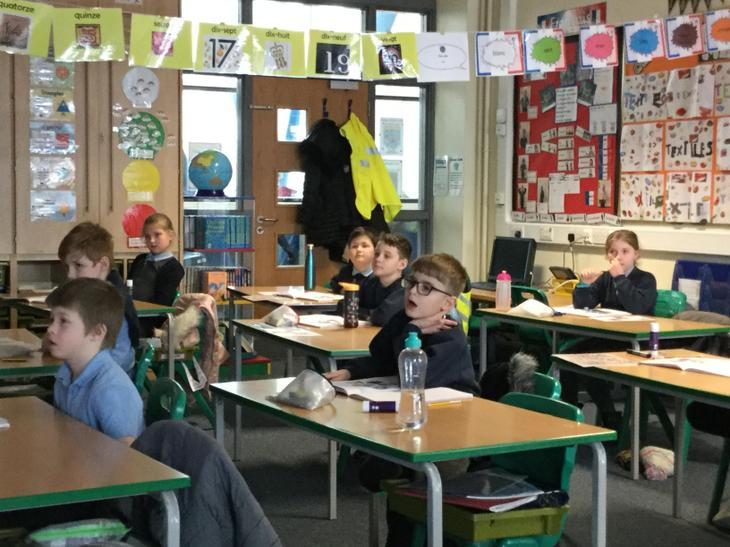 We watched a BBC live lesson!