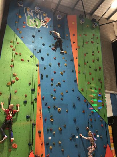The climbing wall