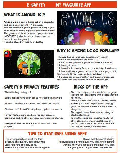 All about our favourite apps and being safe whilst playing them