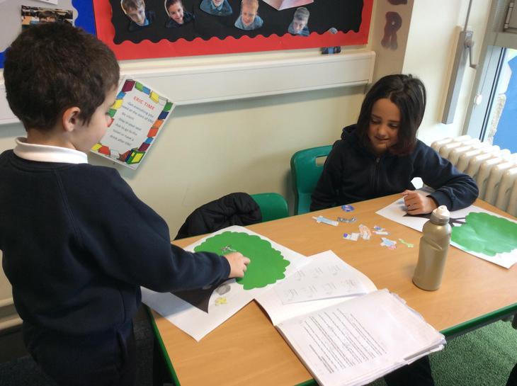 Beech Class sharing their 'Stuck' stories with each other.