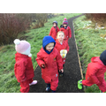 We went of to find some 'natural treasures to make our pictures