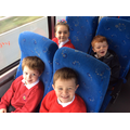 We were all very excited on the big, blue bus.