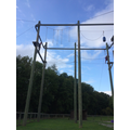 Braving the high ropes!