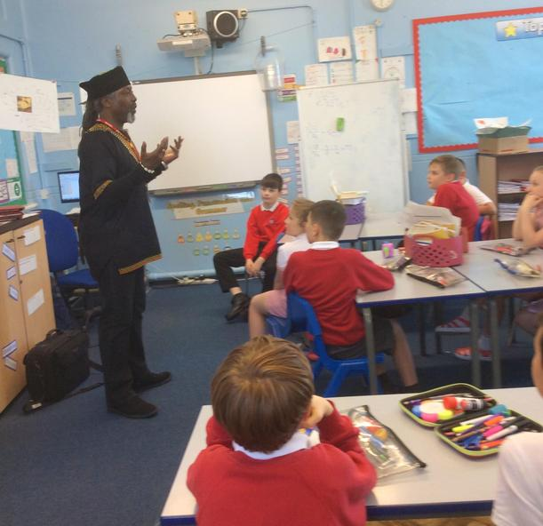 Poetry workshops with local poet