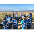 Learning to be safe at the beach.