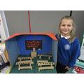 Libby created a Victorian classroom