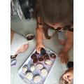 Family cupcake baking!