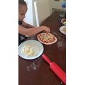 Home-made pizza making!