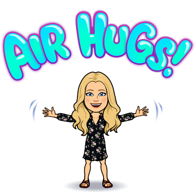 Show you care with air hugs and smiles