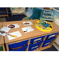 funky fingers in our literacy area