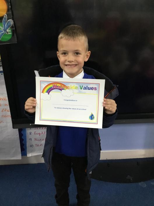 Values award for always being exceptionally kind and caring towards all his peers.