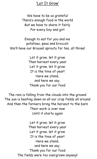 Harvest Song Lyrics