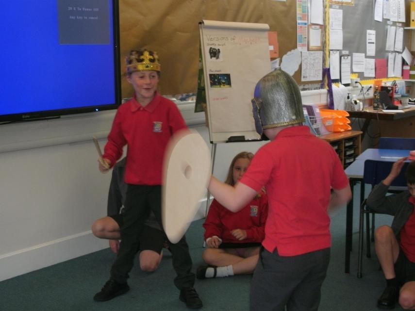 Macbeth faces Macduff