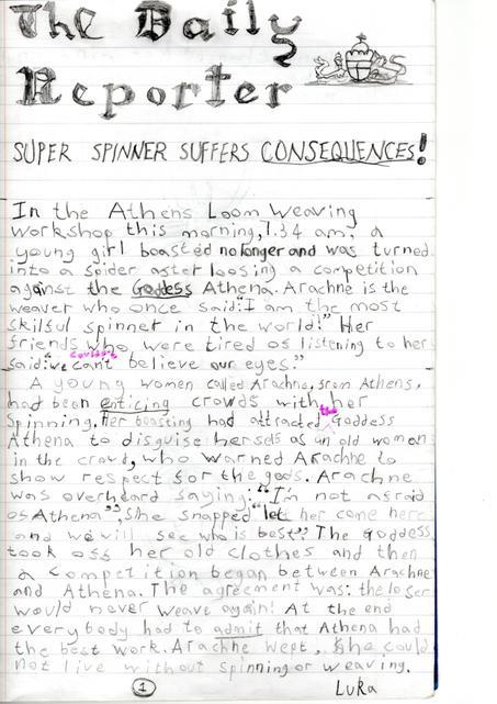 Luka's Newspaper Report