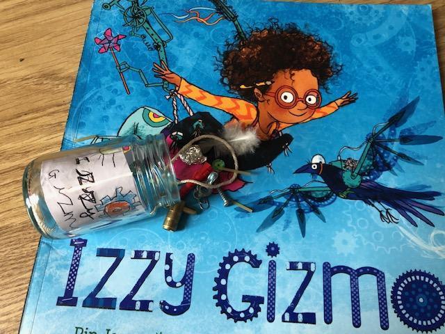 Olivia's 'Izzy Gizmo' Book in a Jar