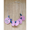A happy and great caterpillar necklace