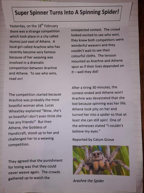 Calum's  Newspaper Report- Final