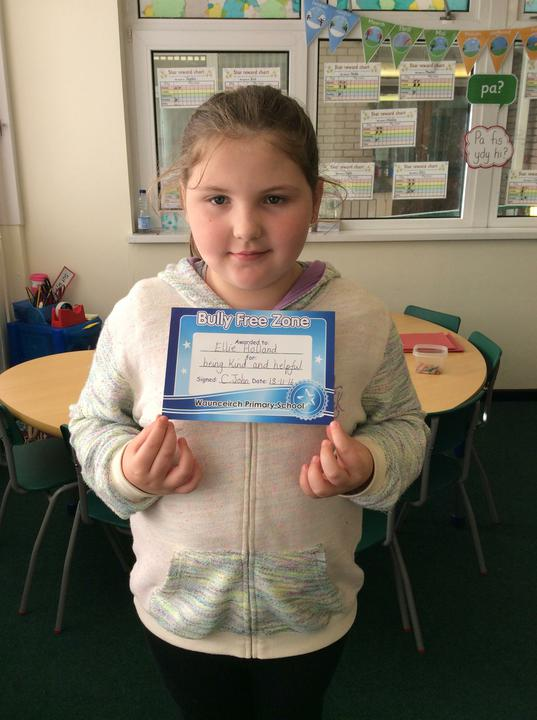 Ellie- a lovely friend to her classmates.