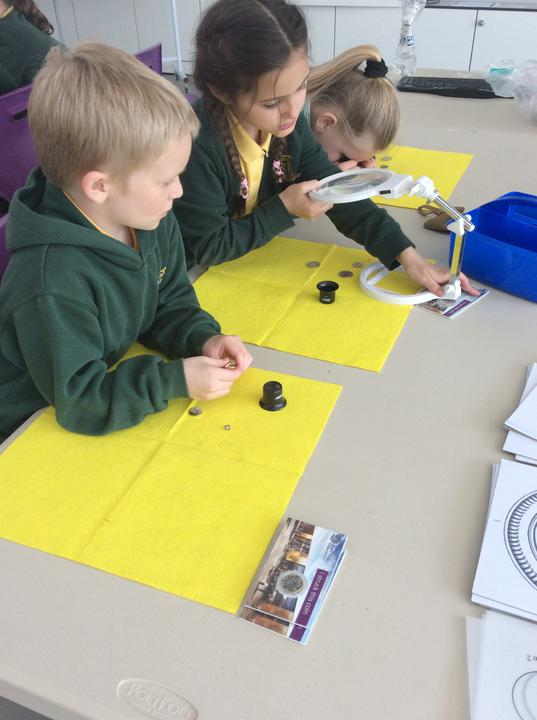 We looked at different coins and designed our own.