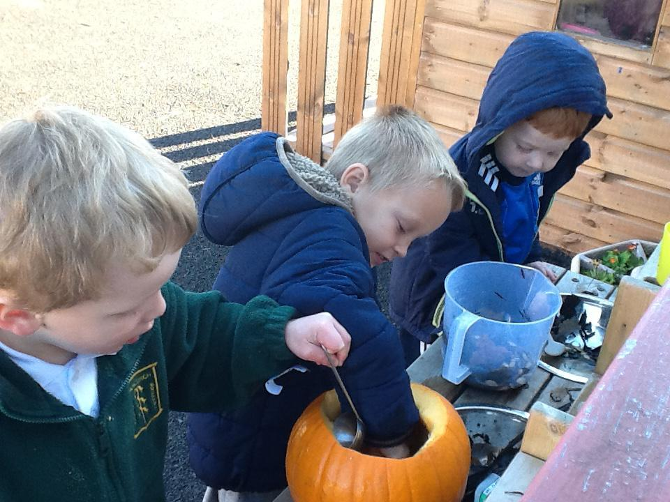 Making pumpkin potions .