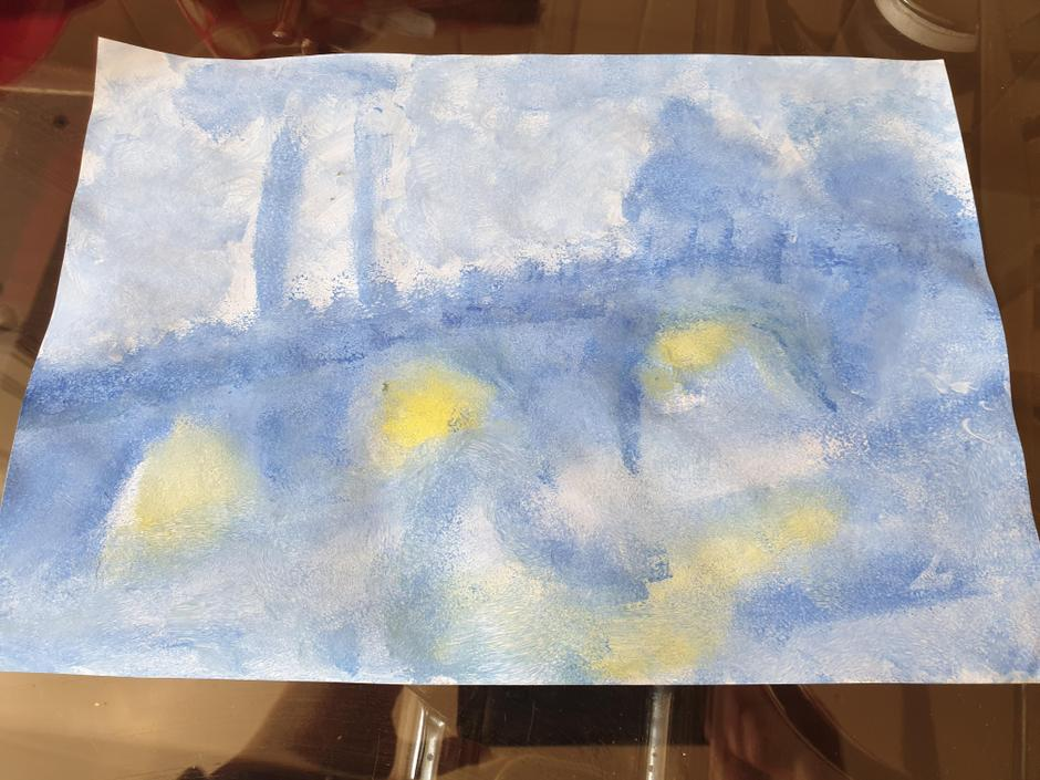Isabella's interpretation of a Monet foggy day