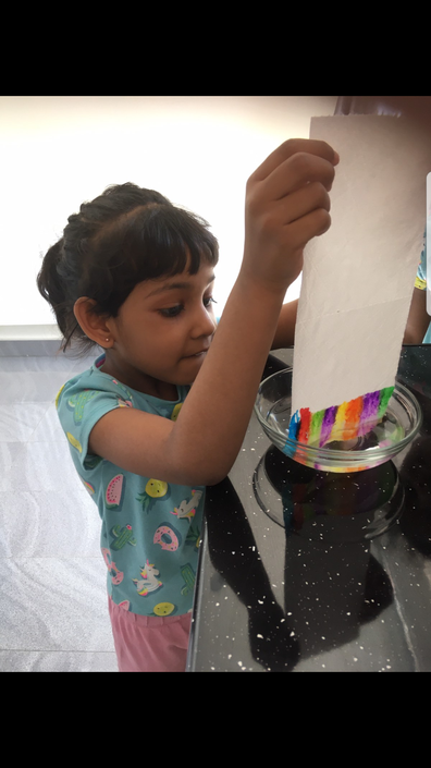Saindhavi has carried out a science experiment