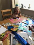 Maja's busy creating colourful spring artwork