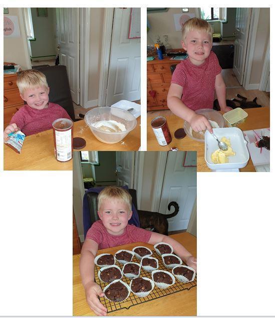Sebastian has been baking