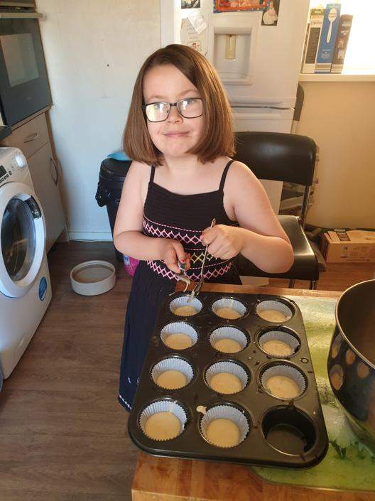 Paige has been busy making cakes.