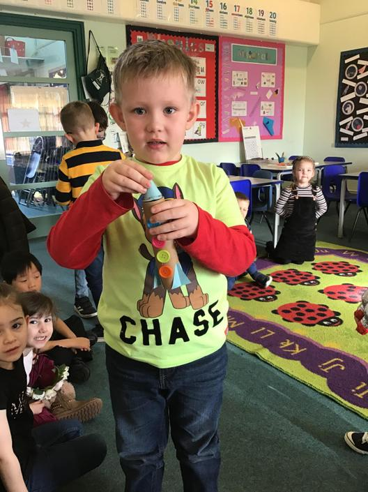 We made amazing rockets for our homework!