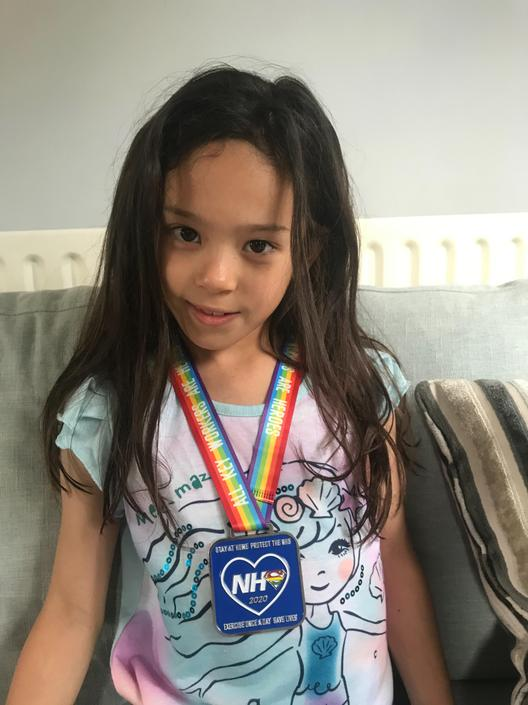 Sakura ran 7.5km to help support the NHS - WOW!