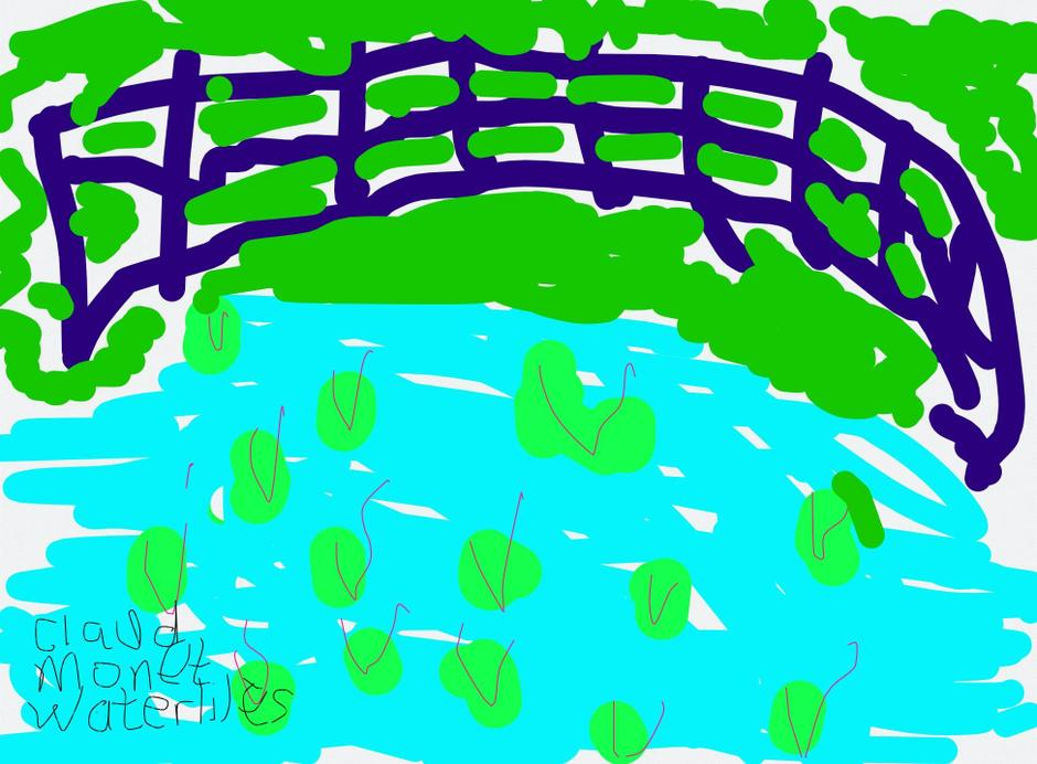 Chloe's waterlilies inspired by Monet