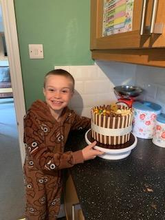 Jack with his birthday cake!