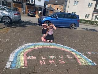 Emmie and Ella's fantastic rainbow!