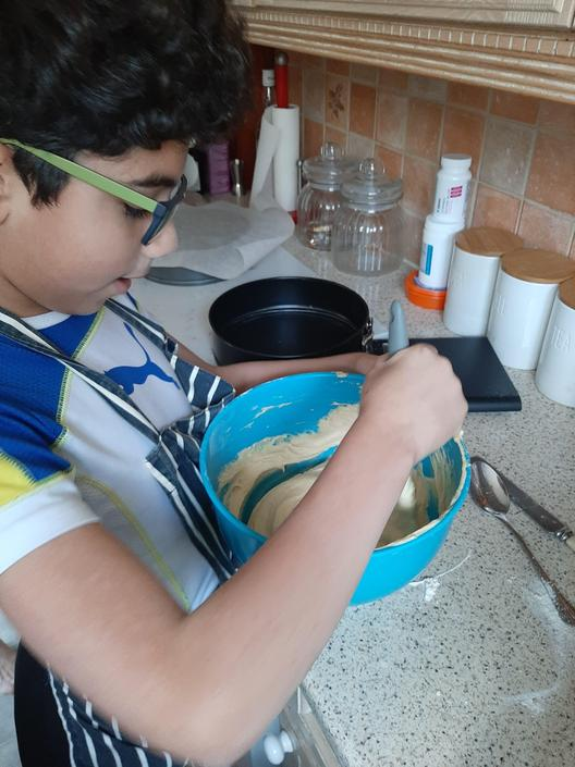 Andrew busy baking