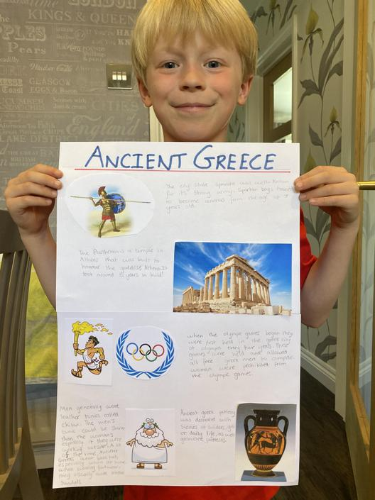 Connor's fact filled Ancient Greece poster.