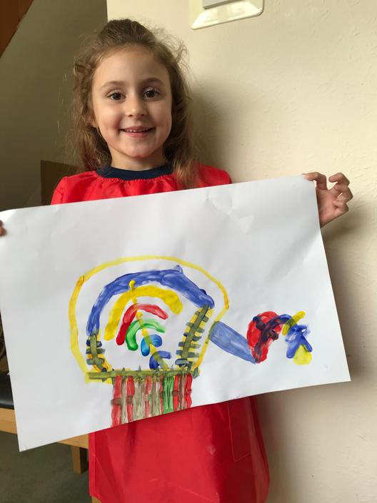 Annabel has painted a 'Happy Machine'!