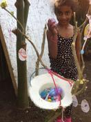 Vaishnavi enjoying Easter