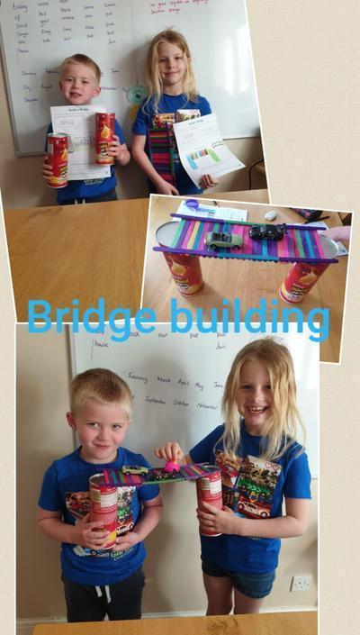 Isabella and Sebastian have been building bridges!