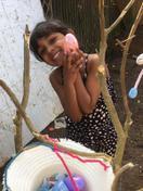 Saindhavi enjoying Easter