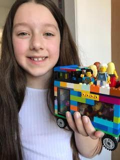 Hannah's amazing Lego bus.