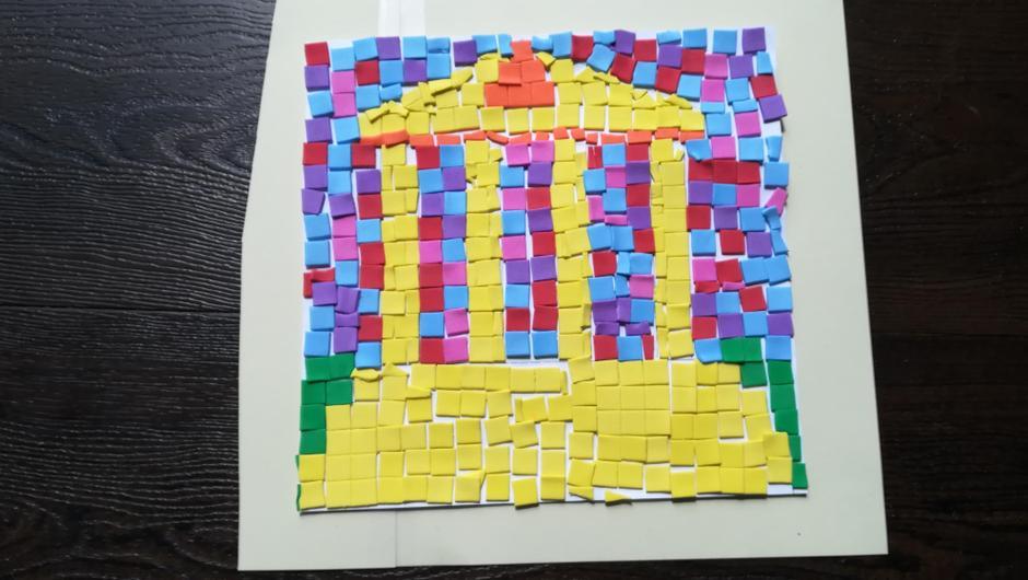 Abbie's mosaic artwork.