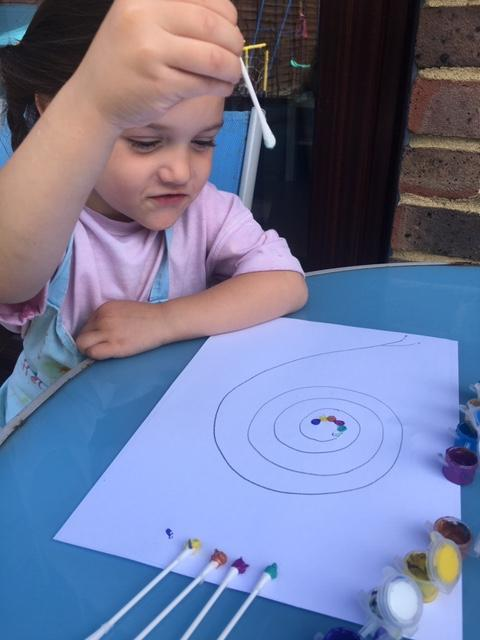 Scarlett-Rose's snail picture