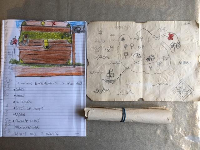 Hisham has created a treasure map