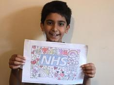 Taran's lovely colourful thank you message
