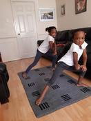 Nifemi and Semilore's daily exercise routine